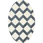 Bella Blue/White Area Rug Rug Size: Oval 12' x 15'