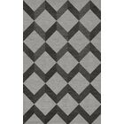 Bella Machine Woven Wool Gray/Black Area Rug Rug Size: Rectangle 12' x 15'