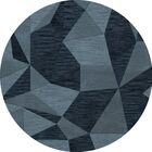 Bella Machine Woven Wool Blue Area Rug Rug Size: Round 6'