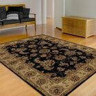 Standish Black Rug Rug Size: Rectangle 8' x 10'