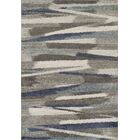 Sammy Shag Ivory/Blue Area Rug Rug Size: Rectangle 8' x 10'