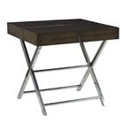 Ava End Table Color: Smoky Brown