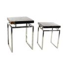 2 Piece End Table Set Finish: Brown/Black