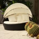 Outdoor Daybed with Cushion