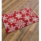 Snowflake Wool Red/White Area Rug