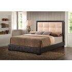 Panel Bed Color: Beige, Size: Full
