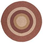 Fabric Multi Red Area Rug Rug Size: Round 8'