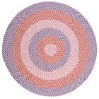 Carousel Crush Blue / Rust Area Rug Rug Size: Round 4'
