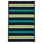 Painter Stripe Navy Waves Indoor/Outdoor Area Rug Rug Size: 4' x 6'