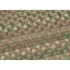 Gloucester Cabana Braided Green Area Rug Rug Size: Square 12'
