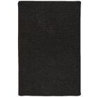 Isleta Hand-Woven Black Area Rug Rug Size: 3' x 5'