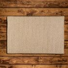 Natural Wool Houndstooth Braided Tea Area Rug Rug Size: Rectangle 2' x 4'