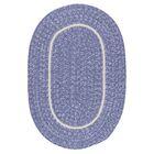 Silhouette Purple Indoor/Outdoor Area Rug Rug Size: Oval 7' x 9'