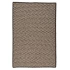 Natural Wool Houndstooth Braided Espresso Area Rug Rug Size: Rectangle 12' x 15'