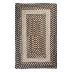 Tiburon Misted Grey Braided Indoor/Outdoor Area Rug Rug Size: Rectangle 8' x 11'