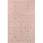 Worreno Hand-Tufted Wool Indoor Pink Area Rug Rug Size: Rectangle 8' x 11'