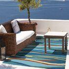 Ocean Waves Handmade Blue Indoor/Outdoor Area Rug Rug Size: 8' x 10'