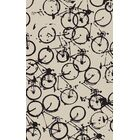 Bowers Hand-Tufted Beige/Black Area Rug Rug Size: Rectangle 8' x 11'
