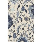 Quaker Wool Hand Tufted Blue/Ivory & Cream Area Rug Rug Size: Rectangle 3'3