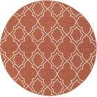 Amato Red Indoor/Outdoor Area Rug Rug Size: Round 7'3