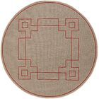 Harbin Rust Indoor/Outdoor Area Rug Rug Size: Round 8'9