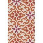 Wentworth Ikat/Suzani Hand Woven Wool Cherry/Ivory Area Rug Rug Size: Rectangle 5' x 8'
