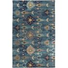 Alica Teal/Gold Ikat and Suzani Area Rug Rug Size: Rectangle 3'3
