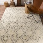 Santos Hand Woven Wool Ivory Area Rug Rug Size: Rectangle 8' x 10'