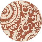 Hattie Brick & Parchment Indoor/Outdoor Rug Rug Size: Round 5'3