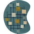 Dewald Hand-Tufted Teal Blue Area Rug Rug Size: Novelty 8' x 10'