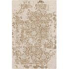 Hoboken Hand-Knotted Tan/Light Gray Area Rug Rug Size: 2' x 3'