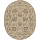 Millwood Hand-Tufted Green/Brown Area Rug Rug Size: Oval 8' x 10'