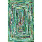 Thao Hand-Woven Green/Blue Area Rug Rug Size: Rectangle 6' x 9'