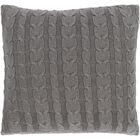 Gardiner 100% Cotton Throw Pillow Fill Material: Down Fill, Color: Medium Gray