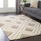 Marketfield Soft Geometric Shag Cream Area Rug Rug Size: Rectangle 7'10