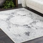 Arteaga Distressed Vintage Medallion Gray/White Area Rug Rug Size: Rectangle 7'10