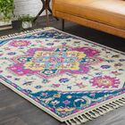 Hallwood Boho Medallion Tassel Pink/Beige Area Rug Rug Size: Rectangle 9'3