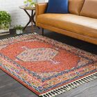 Ardal Boho Persian Tassel Orange Area Rug Rug Size: Rectangle 3'11