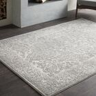 Thissell Vintage Persian Medallion Gray Area Rug Rug Size: Rectangle 9'3