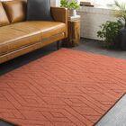 Julian Hand-Woven Burnt Orange Area Rug Rug Size: Rectangle 8' x 10'