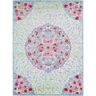 Lyngby-Taarbæk Classic Aqua/Dark Red Area Rug Rug Size: Rectangle 3' x 5'