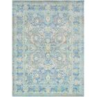 Lyngby-Taarbæk Floral and Plants Aqua Area Rug Rug Size: Rectangle 7'10