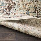 De Funiak Springs Distressed Cream/Dark Brown Area Rug Rug Size: Rectangle 7'10