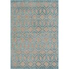 Pospisil Modern Geometric Taupe/Teal Area Rug Rug Size: Rectangle 5'2