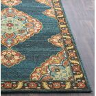 Manitou Traditional Floral Teal Area Rug Rug Size: 7' 10