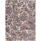 Turner Modern Floral Cream/Red Area Rug Rug Size: Rectangle 9' x 13'