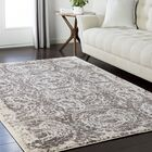 Synthia Brown/Cream Area Rug Rug Size: Rectangle 9'3
