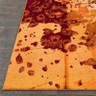 Azure Abstract Orange/Rust Area Rug Rug Size: Rectangle 7'6