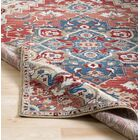 Arbouet Traditional Floral Cream/Red Area Rug Rug Size: Rectangle 9' x 12'3