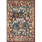 Arbouet Floral Red/Blue Area Rug Rug Size: Rectangle 5'1